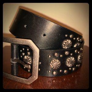 Black embellished belt  EUC